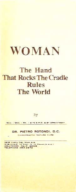 a hand that rocks the cradle rules the world essay The hand that rocks the cradle is the hand that rules the world for the hand that rocks the cradle is the hand that rules the world woman, how divine your mission.